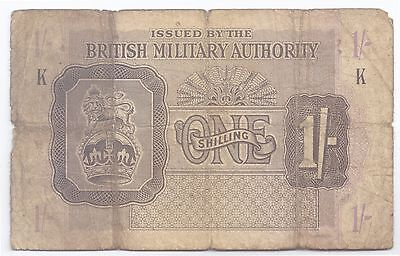 British Military 1/- (1 Shilling) Note, 1943 - World War II currency note!