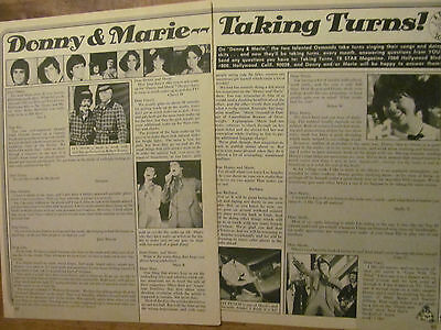 Donny and Marie Osmond, Two Page Vintage Clipping