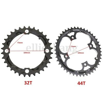 32T/44T Chainring For Shimano 370 390 430 590 SLX XT and 9 Speed Crank CrankSet