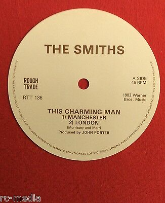 """The Smiths -This Charming Man- Unused 12"""" Record Label"""