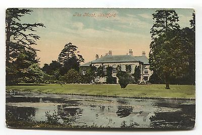 Salisbury - Britford - The Moat - large house - Edwardian Wiltshire postcard