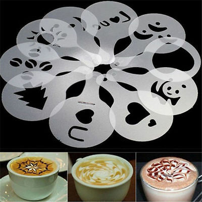 16 Different Design Pack Coffee Milk Cake Cupcake Stencil Template Mold hots