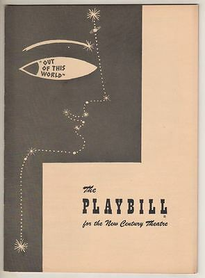 """Cole Porter  Playbill  """"Out Of This World""""  1950  Broadway  Charlotte Greenwood"""