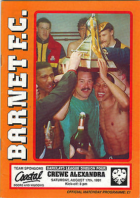 1ST & LAST COLLECTORS - 1991/92 BARNET  - First 2 ever in Football  League...see
