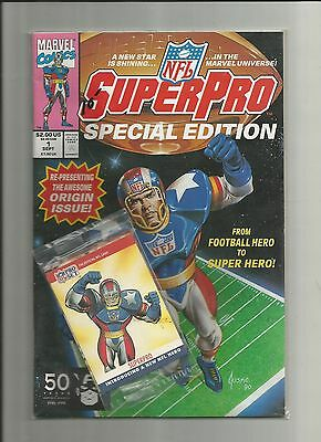 Comic : Nfl Super Pro Special Edition #1 W/ Card Pack ( Marvel, Sept 1991 )