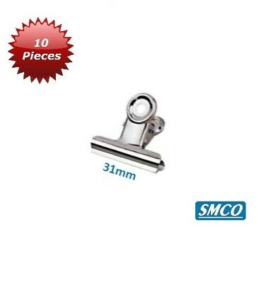 SMCO 30mm Silver Bull Dog Stationary Grip Clip - Pack of 10
