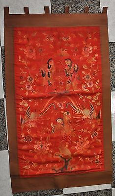 Chinese Qing Dynasty Silk Embroidered