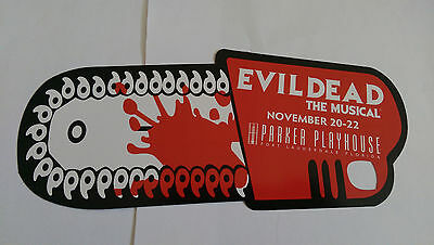 Set of 3 EVIL DEAD: THE MUSICAL CHAINSAW PROMO CARDS 2014 Playhouse Ft. Laud.