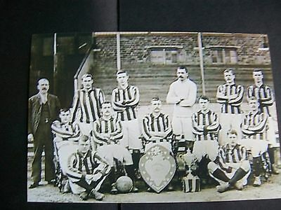 "WEST BROMWICH ALBION TEAM Early with 2 trophies  6""x4""  REPRINT"