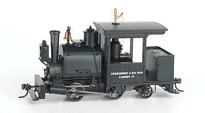 Spur 0n30 - Dampflok Porter 0-4-2 Greenbrier & Big Run Lumb Digital  - 28257 NEU