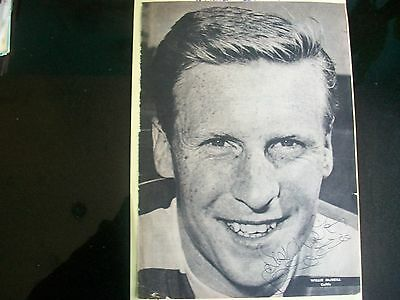 BILLY McNEILL   CELTIC  + SCOTLAND  player   1960s  signed Black+white