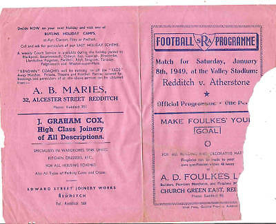 REDDITCH v ATHERSTONE 1948/9 Damaged
