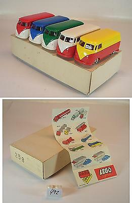 Lego 1/87 No.258 Dealer Tradebox 5 x VW Bus T1 in O-Pappbox ex Shop Stock #492