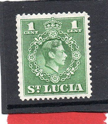 St.LUCIA GV1 1949-50 new currency 1c  sg 146a HH.MINT