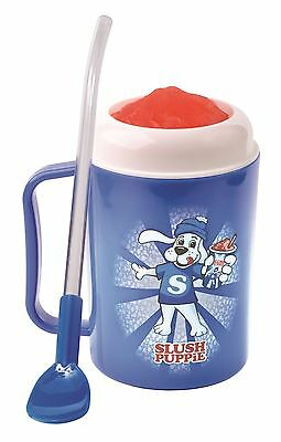 Slush Puppie Making Cup Ice Drink Maker Puppy Spoon Straw Slushy