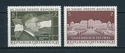 Austria 860-1 MNH, Anniversary of the 2nd Republic 1970