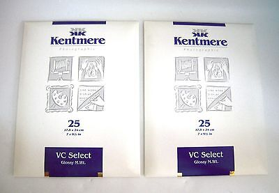 KENTMERE VC SELECT GLOSSY x2 Packages B&W Print Paper M.Wt  18x24cm 25 --M29
