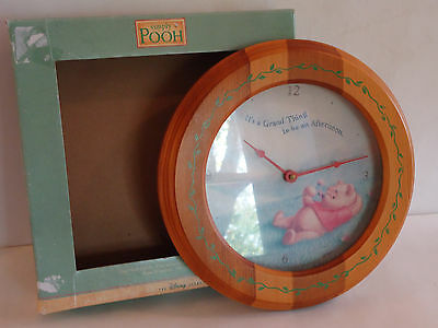 Simply Winnie the Pooh Wooden Wall Clock The Disney Store Parts of Repair