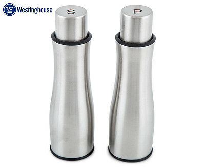 Westinghouse Push Button Salt & Pepper Mills - Brushed Stainless Steel