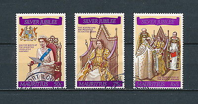 Mauritius 433-5 used, Silver Jubilee of Queen Elizabeth 1977