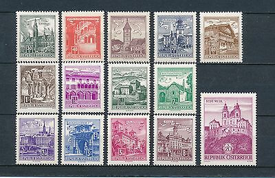 Austria 688-95, 697-702 MNH,  Definitive Issue
