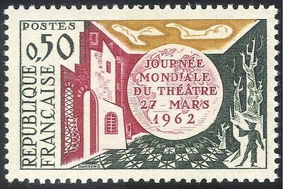 France 1962 World Theatre Day/Acting/Actors/Buildings/People 1v (n43612)