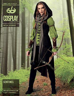 COSPLAY BY McCALL'S SEWING PATTERN TUNIC VEST HOOD & BRACERS SIZE 6 - 22 M2080