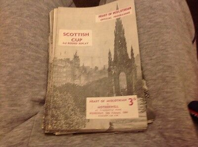Football Programme Hearts V Motherweii 1963/64 Cup Replay