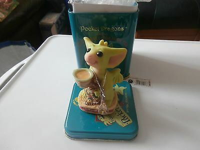 Pocket Dragons  Collectible World  Time For Tea In Tin Joining Club Piece 2001