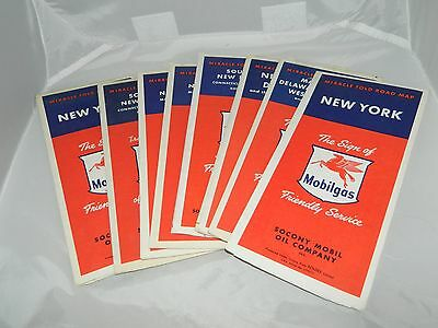 Large Lot of Vintage 1950's Miracle Fold Road Map MOBILGAS