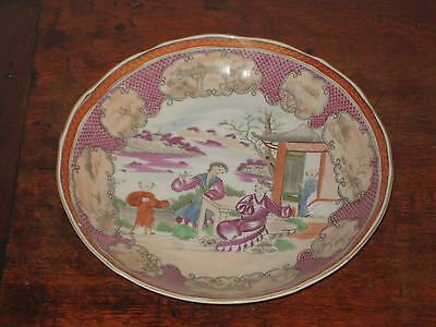 English Miles Mason  Bowl Oriental Figures Scene