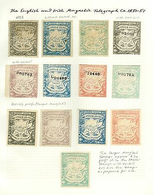 Private telegraph companies stamps. English and Irish magnetic telegraph...