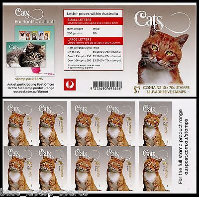 2015 Cats, Bubu - $7.00 Booklet Unfolded MUH