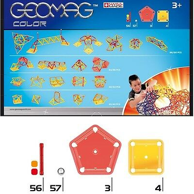 Geomag Color 120 Teile 255 Magnetbaukasten Konstruktion Original Magnetic World