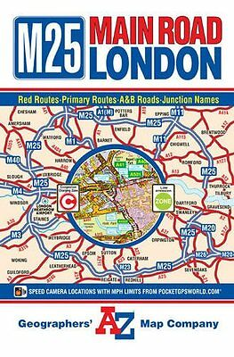 M25 Main Road Map of London (A-Z Road Map) New Map Book Geographers' A-Z Map Com