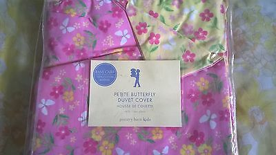 New Pottery Barn Kids PINK Petite BUTTERFLY Twin DUVET Yellow