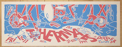 2005 The Thermals - Portland Silkscreen Concert Poster by Guy Burwell