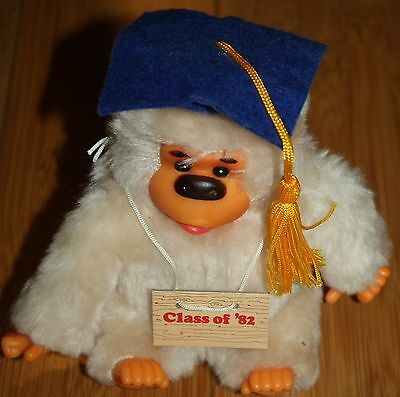 Vintage Russ Baby GONGA Thumb Sucking Gorilla Graduating Class of 82 1982 Plush