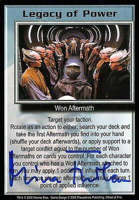 BABYLON 5 CCG Mira Furlan WHEEL OF FIRE Legacy of Power AUTOGRAPHED