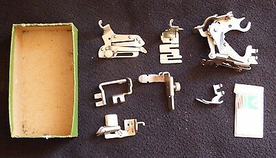 Joblot Vintage Singer Sewing Machine 201K Simanco Accessories Attachments