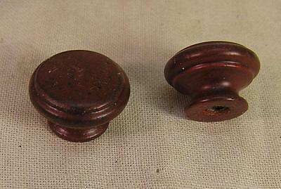 8 Small Walnut Stained Wood Knob Chest Spice Box Doll Funtinure Cabinet Hardware