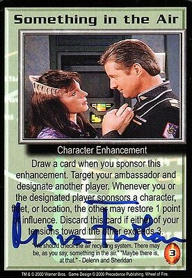 BABYLON 5 CCG Mira Furlan WHEEL OF FIRE Something in the Air AUTOGRAPHED