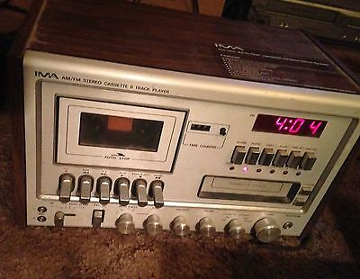 Vintage Craig IMA All-in-One Stereo/8-Track/Cassette Player/Alarm Clock PS2500A