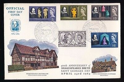 SHAKESPEARE FESTIVAL - Stratford Upon Avon..1964 FDC First Day Cover...Fast Post