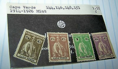 Cape Verde 1914-26 Mint Postage Stamps #144--146--148--151 Lot 20