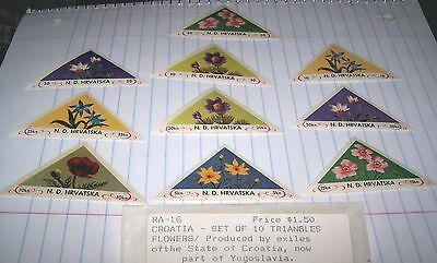N.d. Hrvatska (Croatia) Mnh Stamps Lot Of 10 Triangles-Flowers Lot 13