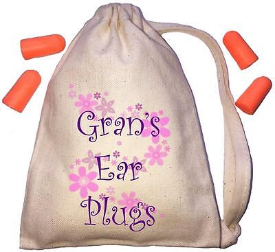 Gran's Floral Design TINY Ear Plugs Storage Bag & 4 Ear Plugs DIY / Snoring