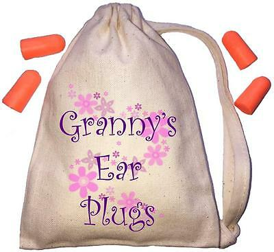 Granny's Floral Design TINY Ear Plugs Storage Bag & 4 Ear Plugs DIY / Snoring