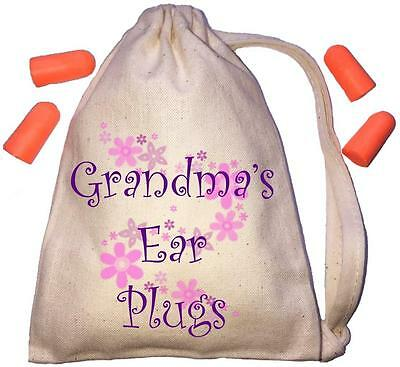 Grandma's Floral Design TINY Ear Plugs Storage Bag & 4 Ear Plugs DIY / Snoring