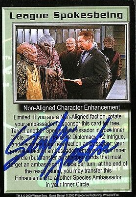BABYLON 5 CCG Stephen Austin WHEEL OF FIRE League Spokesbeing AUTOGRAPHED